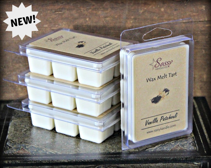 VANILLA PATCHOULI | Wax Melt Tart | Wax Tart | Wax Melt | Phthalate Free | Soy Blend | Sassy Kandle Co.