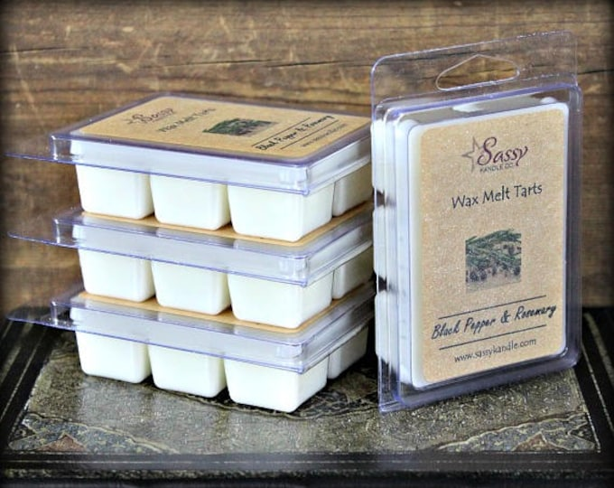 BLACK PEPPER & ROSEMARY | Wax Melt Tart | Phthalate Free | Sassy Kandle Co.