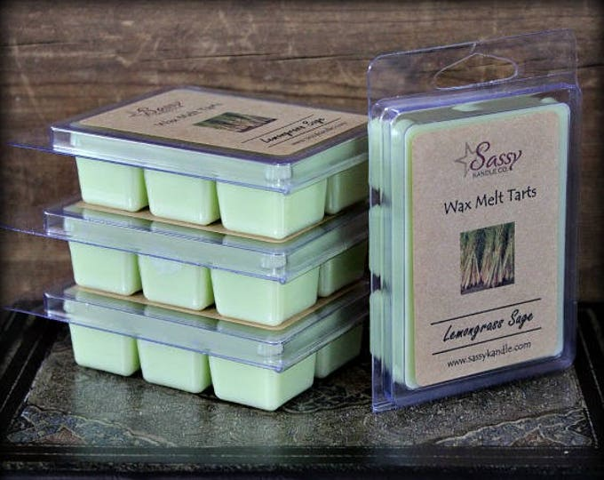 LEMONGRASS SAGE | Wax Melt Tart | Phthalate Free | Sassy Kandle Co.