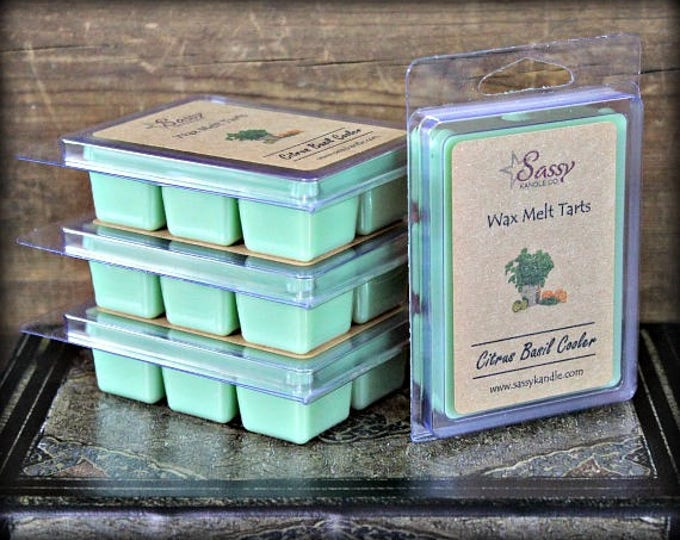 CITRUS BASIL COOLER | Wax Melt Tart |  Phthalate Free | Sassy Kandle Co.