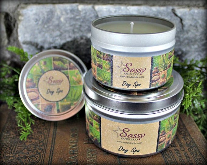 DAY SPA | Candle Tin (4 or 8 oz) | Clearance!