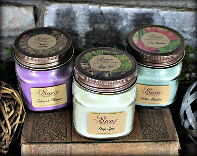 Free Shipping! || 8 oz MASON JAR CANDLES || Pick 3