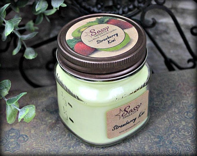 STRAWBERRY KIWI | Mason Jar Candle | Clearance!
