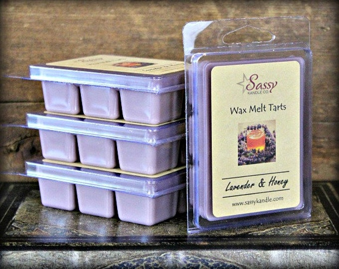 LAVENDER & HONEY | Wax Melt Tart | Wax Tart | Wax Melt | Phthalate Free | Soy Blend | Sassy Kandle Co.