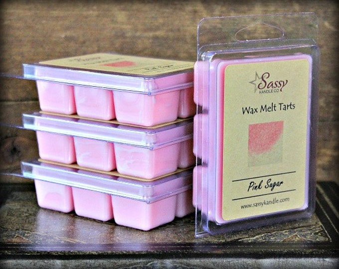 PINK SUGAR | Wax Melt Tart | Wax Tart | Wax Melt | Phthalate Free | Soy Blend | Sassy Kandle Co.