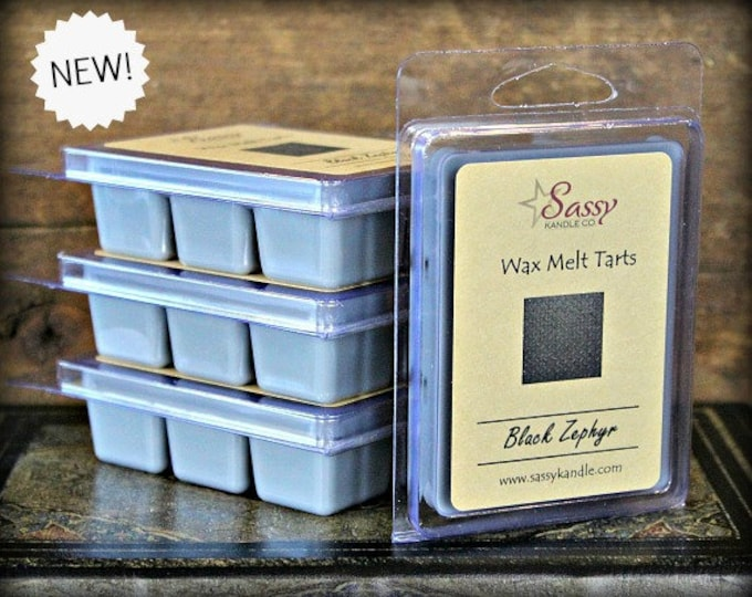 BLACK ZEPHYR | Wax Melt Tart | Sassy Kandle Co.