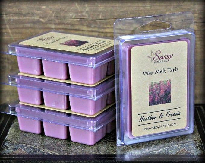 HEATHER & FREESIA | Wax Melt Tart | Clearance! | Sassy Kandle Co.