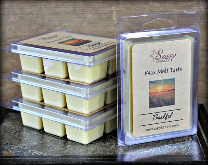 THANKFUL | Wax Melt Tart | Wax Tart | Wax Melt | Phthalate Free | Soy Blend | Sassy Kandle Co.
