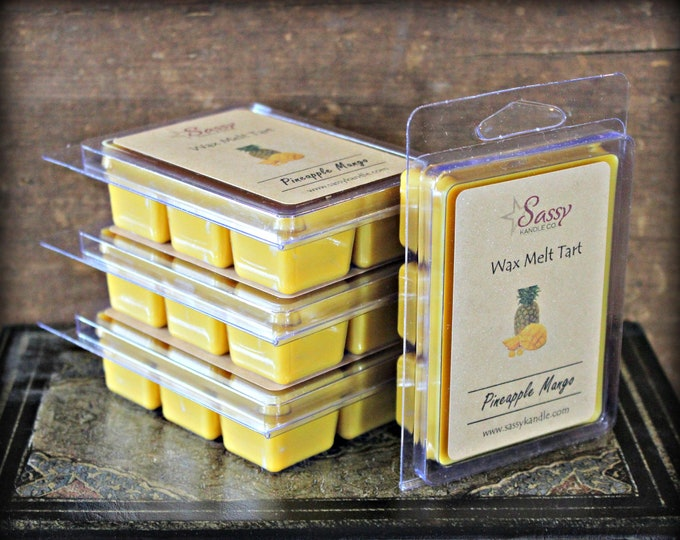 PINEAPPLE MANGO | Wax Melt Tart | Wax Tart | Wax Melt | Pthalate Free | Soy Blend | Sassy Kandle Co.