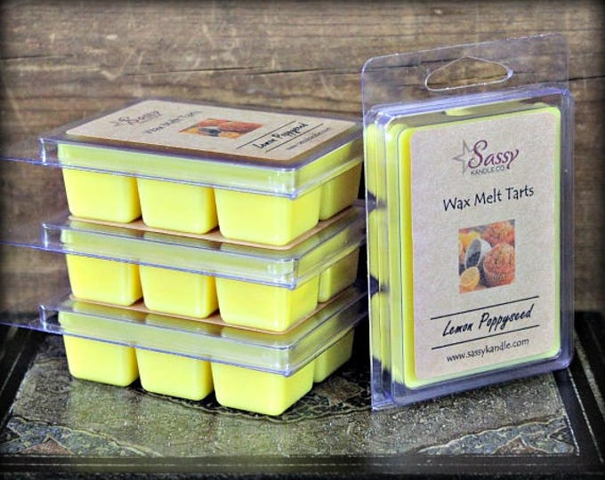 LEMON POPPYSEED | Wax Melt Tart | Wax Tart | Wax Melt | Phthalate Free | Soy Blend | Sassy Kandle Co.