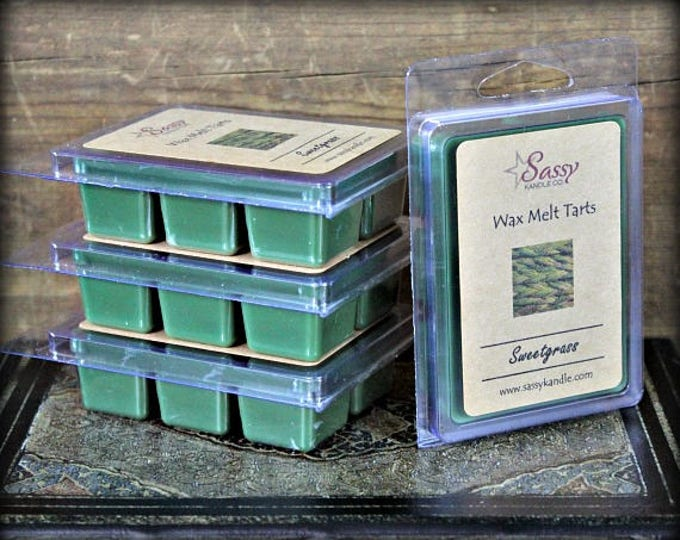 SWEETGRASS | Wax Melt Tart | Wax Tart | Wax Melt | Phthalate Free | Soy Blend | Sassy Kandle Co.
