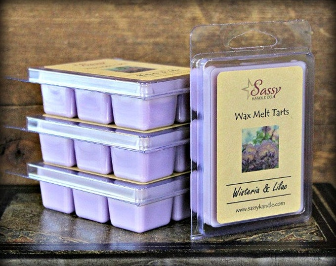WISTERIA & LILAC | Wax Melt Tart | Wax Tart | Wax Melt | Soy Blend | Sassy Kandle Co.