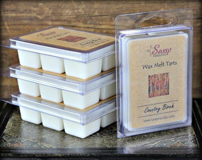 COUNTRY BIRCH | Wax Melt Tart | Wax Tart | Wax Melt | Phthalate Free | Soy Blend | Sassy Kandle Co.