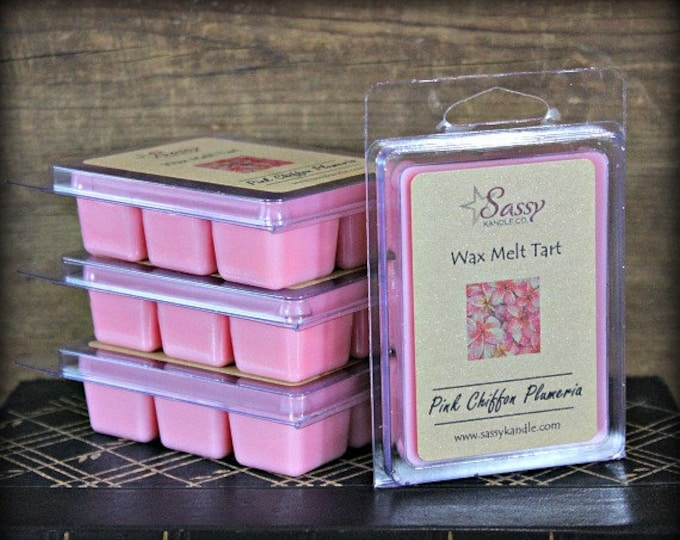 PINK CHIFFON PLUMERIA | Wax Melt Tart | Wax Tart | Wax Melt | Phthalate Free | Soy Blend | Sassy Kandle Co.