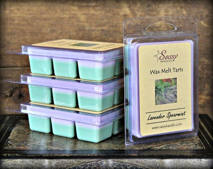 LAVENDER SPEARMINT | Wax Melt Tart | Wax Tart | Wax Melt | Phthalate Free | Soy Blend | Sassy Kandle Co.