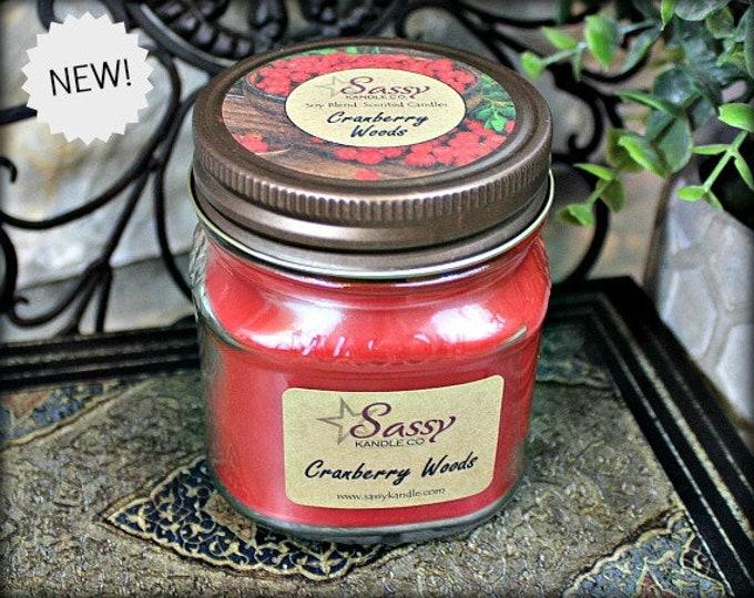 CRANBERRY WOODS | Mason Jar Candle | Sassy Kandle Co.