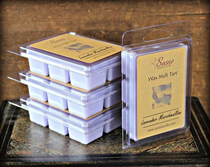 LAVENDER MARSHAMLLOW | Wax Melt Tart | Wax Tart | Wax Melt | Pthalate Free | Soy Blend | Sassy Kandle Co.