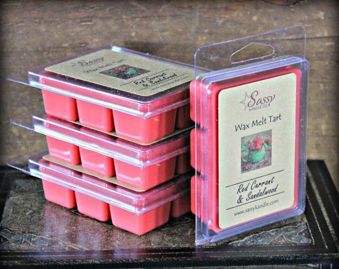 RED CURRANT & SANDALWOOD | Wax Melt Tart | Wax Tart | Wax Melt | Phthalate Free | Soy Blend | Sassy Kandle Co.