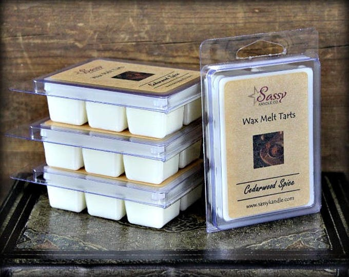 CEDARWOOD & SPICE | Wax Melt Tart | Phthalate Free | Sassy Kandle Co.