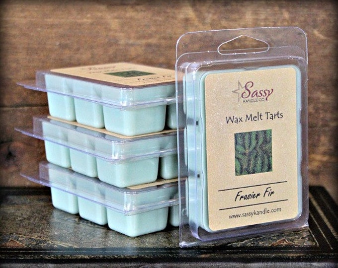 FRASIER FIR | Wax Melt Tart | Wax Tart | Wax Melt | Phthalate Free | Soy Blend | Sassy Kandle Co.