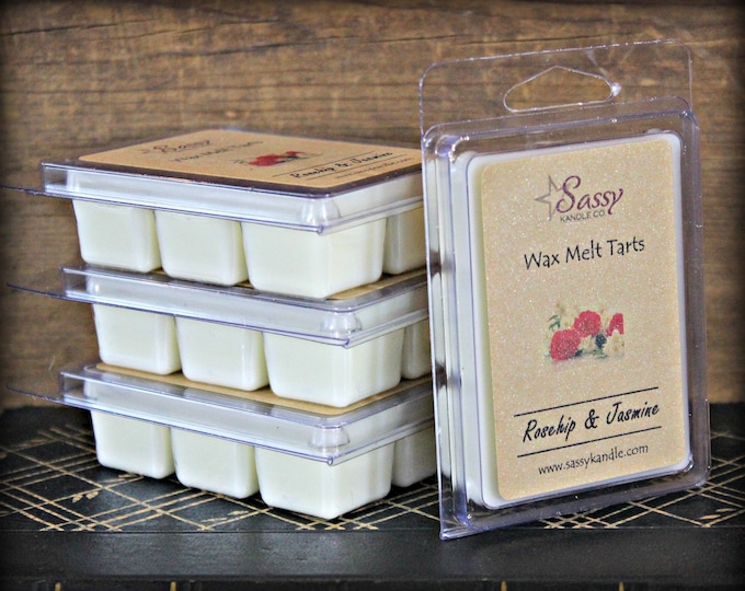 ROSEHIP & JASMINE | Wax Melt Tart | Wax Tart | Wax Melt | Phthalate Free | Soy Blend | Sassy Kandle Co.