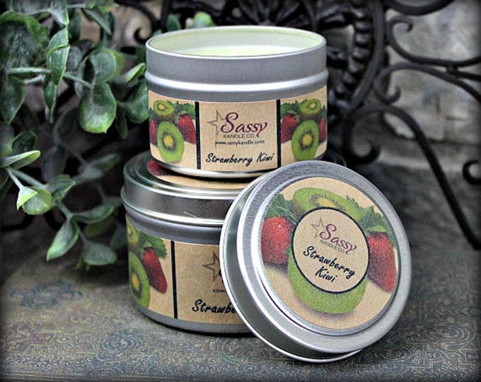 STRAWBERRY KIWI | Candle Tin (4 or 8 oz) | Clearance!