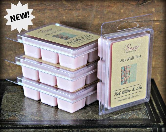 PINK WILLOW & LILAC | Wax Melt Tart | Wax Tart | Wax Melt | Phthalate Free | Soy Blend | Sassy Kandle Co.