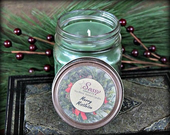 MERRY MISTLETOE | Mason Jar Candle | Soy Blend Candle | Sassy Kandle Co.