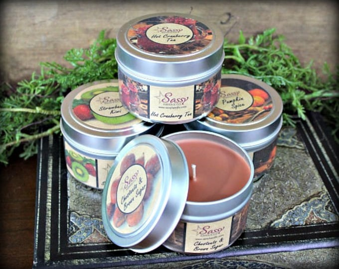 Pick 4 | 4-oz CANDLE TINS | Sassy Kandle Co. |  Candle Tins | Gift Set | Free Shipping