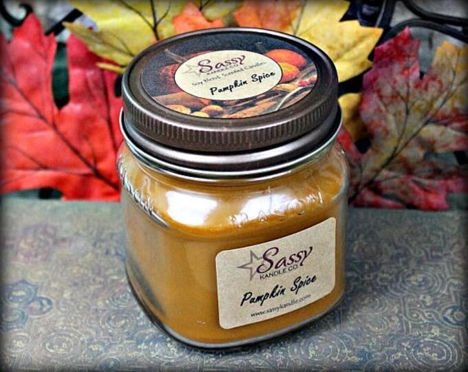 PUMPKIN SPICE | Mason Jar Candle | Sassy Kandle Co.