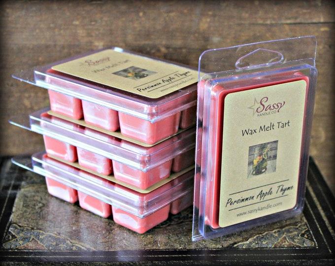 PERSIMMON APPLE THYME | Wax Melt Tart | Wax Tart | Wax Melt | Pthalate Free | Soy Blend | Sassy Kandle Co.