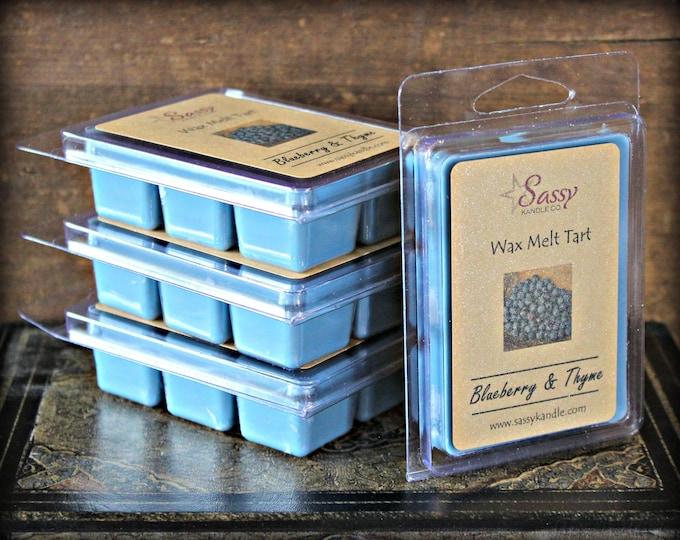 BLUEBERRY & THYME | Wax Melt Tart | Wax Tart | Wax Melt | Pthalate Free | Soy Blend | Sassy Kandle Co.