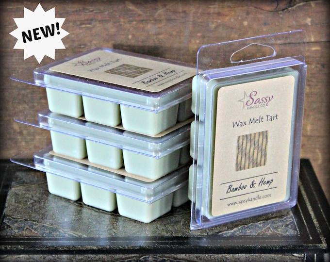 BAMBOO & HEMP | Wax Melt Tart | Wax Tart | Wax Melt | Phthalate Free | Soy Blend | Sassy Kandle Co.