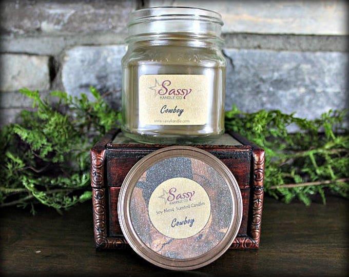 COWBOY   Mason Jar Candle   Sassy Kandle Co.