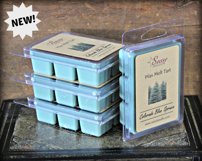 COLORADO BLUE SPRUCE | Wax Melt Tart | Wax Tart | Wax Melt | Phthalate Free | Soy Blend | Sassy Kandle Co.