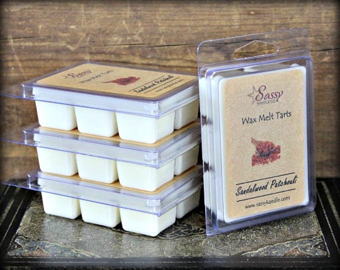 SANDALWOOD & PATCHOULI | Wax Melt Tart | Wax Tart | Wax Melt | Phthalate Free | Soy Blend | Sassy Kandle Co.