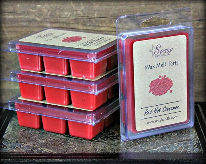 RED HOT CINNAMON | Wax Melt Tart | Wax Tart | Wax Melt | Phthalate Free | Soy Blend | Sassy Kandle Co.