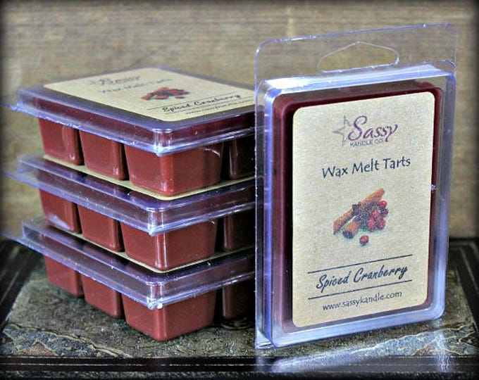 SPICED CRANBERRY | Wax Melt Tart | Wax Tart | Wax Melt | Soy Blend | Sassy Kandle Co.