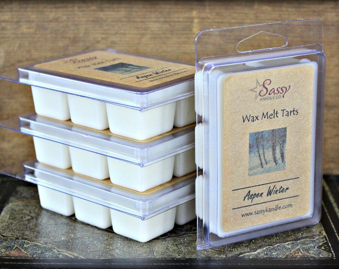 ASPEN WINTER | Wax Melt Tart | Wax Tart | Wax Melt | Phthalate Free | Christmas | Soy Blend | Sassy Kandle Co.