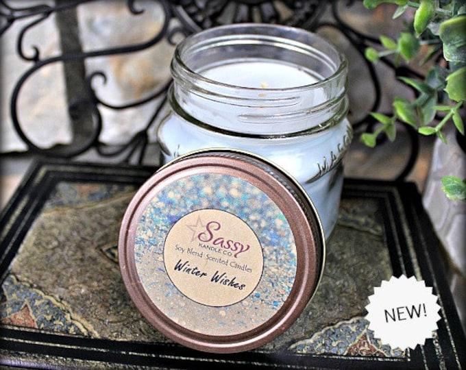 WINTER WISHES | Mason Jar Candle | Sassy Kandle Co.