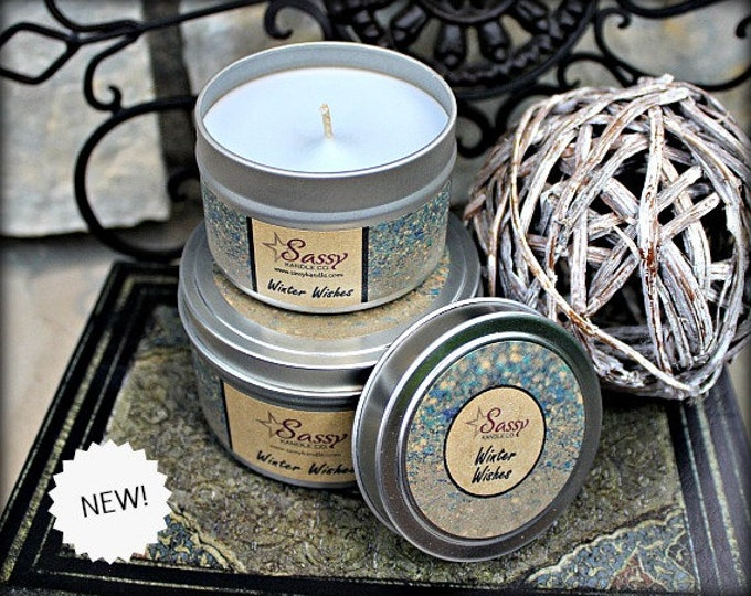 WINTER WISHES | Candle Tin (4 or 8 oz) | Sassy Kandle Co.