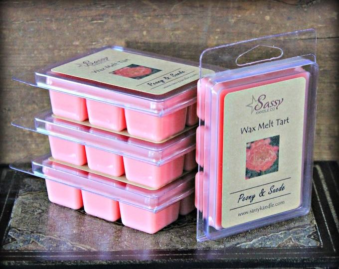 PEONY & POPPY | Wax Melt Tart | Wax Tart | Wax Melt | Phthalate Free | Soy Blend | Sassy Kandle Co.
