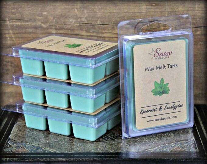 SPEARMINT & EUCALYPTUS | Wax Melt Tart | Wax Tart | Wax Melt | Phthalate Free | Soy Blend | Sassy Kandle Co.