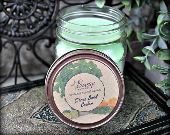 CITRUS BASIL COOLER | Mason Jar Candle | Sassy Kandle Co.