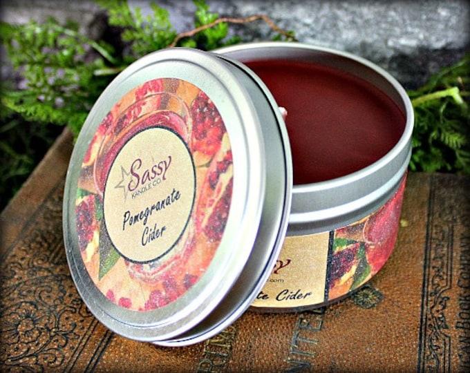 POMEGRANATE CIDER | Candle Tin (4 or 8 oz) | Sassy Kandle Co.