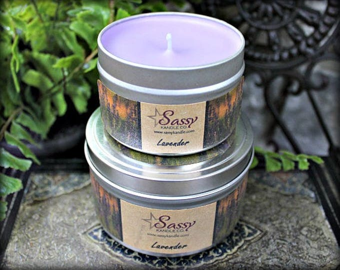 LAVENDER | Candle Tin (4 or 8 oz) | Sassy Kandle Co.