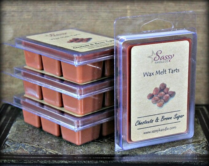 CHESTNUTS & BROWN SUGAR | Wax Melt Tart | Wax Tart | Wax Melt | Phthalate Free | Soy Blend | Sassy Kandle Co.
