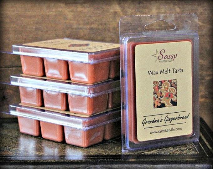 GRANDMA'S GINGERBREAD | Wax Melt Tart | Wax Tart | Wax Melt | Phthalate Free | Soy Blend | Sassy Kandle Co.