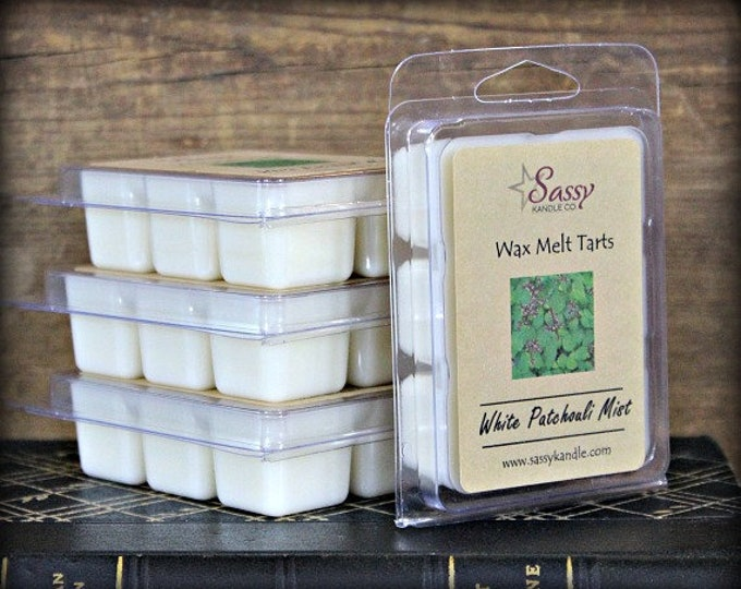 WHITE PATCHOULI MIST | Wax Melt Tart | Wax Tart | Wax Melt | Phthalate Free | Soy Blend | Sassy Kandle Co.