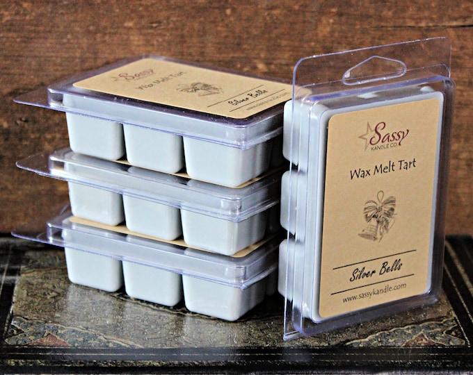 SILVER BELLS | Wax Melt Tart | Wax Tart | Wax Melt | Phthalate Free | Christmas | Soy Blend | Sassy Kandle Co.